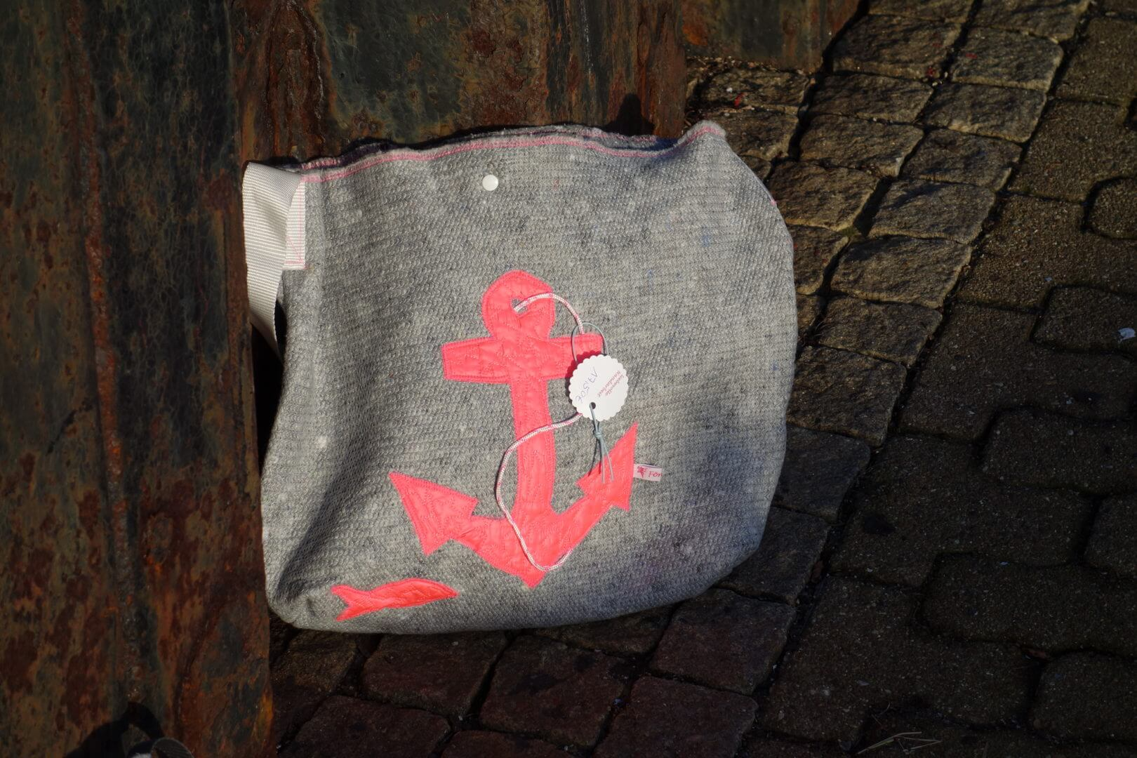 Handtasche Umzugsdecke pink Anker