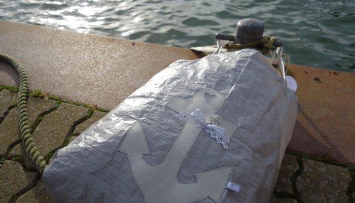 Upcycling - Tasche IKEA Deluxe aus Abdeckplane mit Anker
