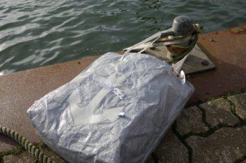 Upcycling - Tasche IKEA Deluxe aus Abdeckplane mit Anker groß
