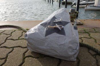Upcycling - Tasche IKEA Deluxe aus Abdeckplane mit Stern im Wind