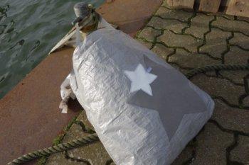 Upcycling - Tasche aus Abdeckplane Sterne, IKEA Deluxe 2