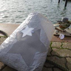 Upcycling - Tasche aus Abdeckplane Sterne, IKEA Deluxe