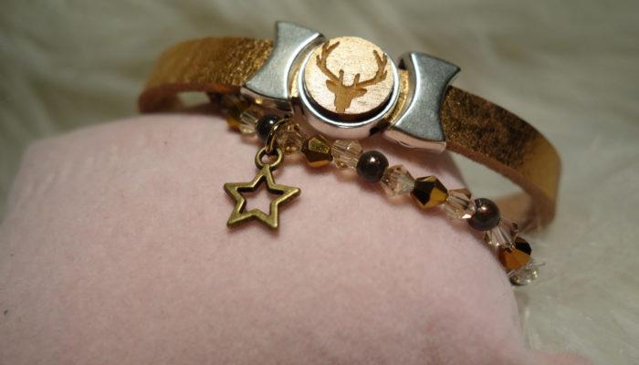 Armband Hirsch schräg