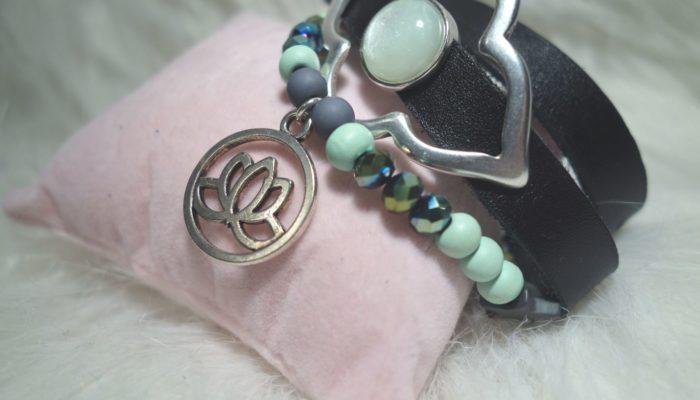 Armband Lotusblüte schräg