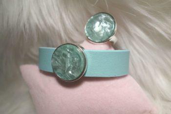 Armband türkis schräg