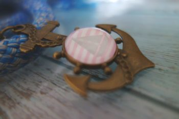 Schlüsselanhänger Segelschiff nah
